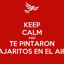 Poster: KEEP CALM AND TE PINTARON PAJARITOS EN EL AIRE