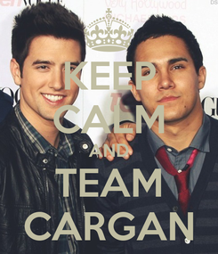Poster: KEEP CALM AND TEAM CARGAN