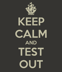 Poster: KEEP CALM AND TEST OUT