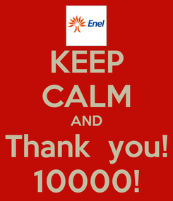 Poster: KEEP CALM AND Thank  you! 10000!