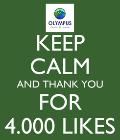 Poster: KEEP CALM AND THANK YOU FOR 4.000 LIKES