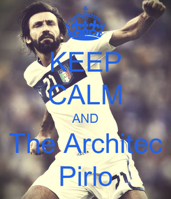 Poster: KEEP CALM AND The Architec Pirlo