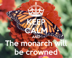Poster: KEEP CALM AND The monarch will be crowned