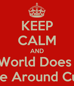 Poster: KEEP CALM AND The World Does NOT Revolve Around CupcKes