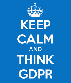 Poster: KEEP CALM AND THINK GDPR