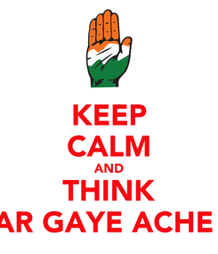 Poster: KEEP CALM AND THINK KIDAR GAYE ACHE DIN