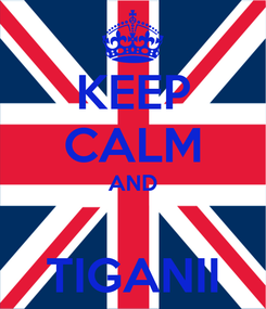 Poster: KEEP CALM AND  TIGANII