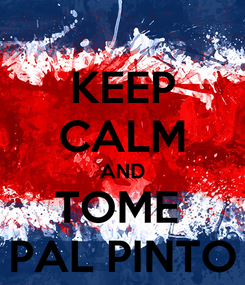 Poster: KEEP CALM AND TOME  PAL PINTO