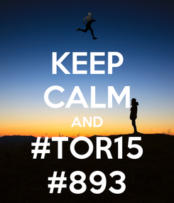 Poster: KEEP CALM AND #TOR15 #893