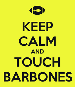Poster: KEEP CALM AND TOUCH BARBONES