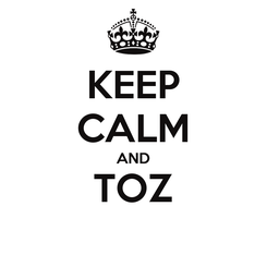 Poster: KEEP CALM AND TOZ