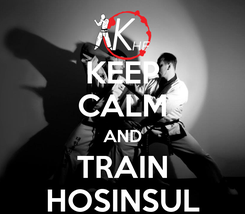 Poster: KEEP CALM AND TRAIN HOSINSUL