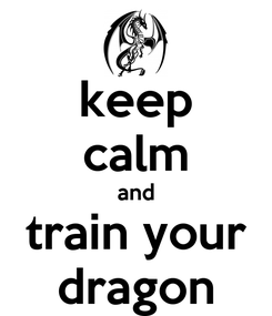 Poster: keep calm and train your dragon