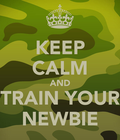 Poster: KEEP CALM AND TRAIN YOUR NEWBIE