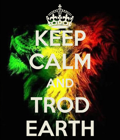 Poster: KEEP CALM AND TROD EARTH