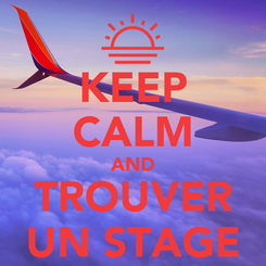Poster: KEEP CALM AND TROUVER UN STAGE