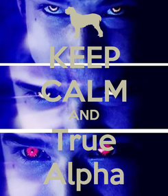 Poster: KEEP CALM AND True Alpha