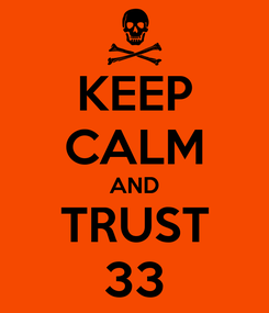 Poster: KEEP CALM AND TRUST 33
