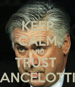 Poster: KEEP CALM AND TRUST  ANCELOTTI