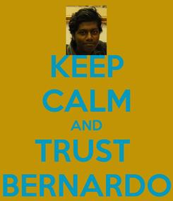 Poster: KEEP CALM AND TRUST  BERNARDO