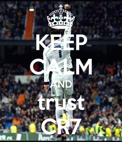 Poster: KEEP CALM AND trust CR7