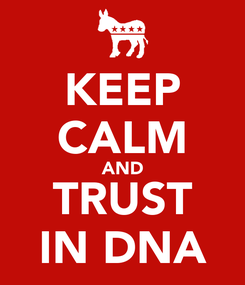 Poster: KEEP CALM AND TRUST IN DNA
