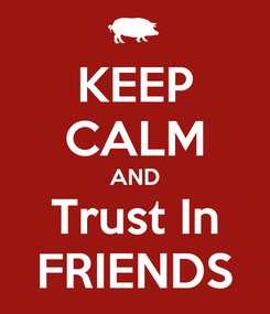 Poster: KEEP CALM AND Trust In FRIENDS