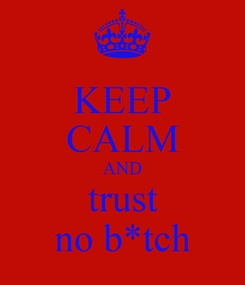 Poster: KEEP CALM AND trust no b*tch