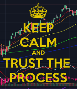Poster: KEEP CALM AND TRUST THE  PROCESS
