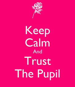 Poster: Keep Calm And Trust The Pupil