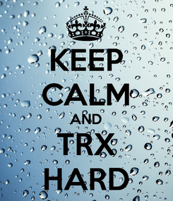 Poster: KEEP CALM AND TRX HARD
