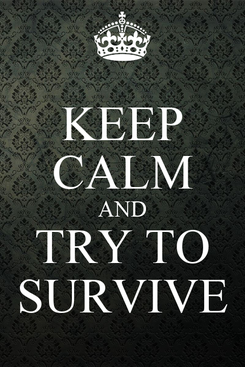 Poster: KEEP CALM AND TRY TO SURVIVE