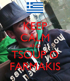 Poster: KEEP CALM AND TSOUP O FARMAKIS