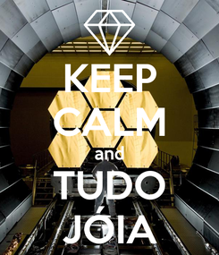 Poster: KEEP CALM and TUDO JÓIA