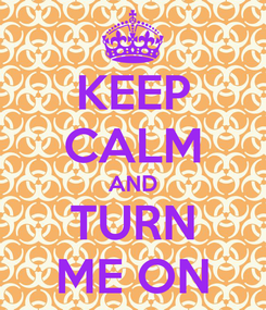 Poster: KEEP CALM AND TURN ME ON