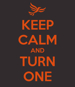 Poster: KEEP CALM AND TURN ONE