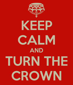Poster: KEEP CALM AND TURN THE CROWN