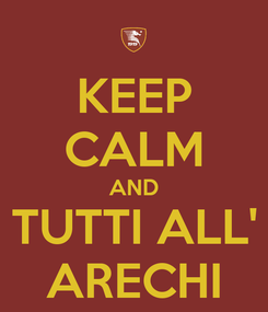 Poster: KEEP CALM AND TUTTI ALL' ARECHI