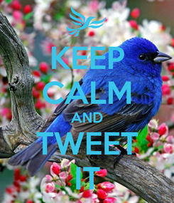 Poster: KEEP CALM AND TWEET IT