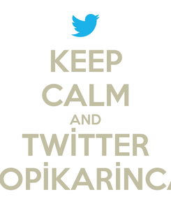 Poster: KEEP CALM AND TWİTTER POPİKARİNCA