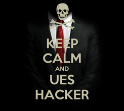 Poster: KEEP CALM AND UES HACKER