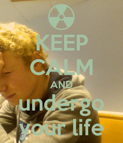 Poster: KEEP CALM AND undergo your life