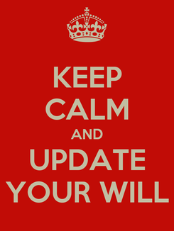 Poster: KEEP CALM AND UPDATE YOUR WILL
