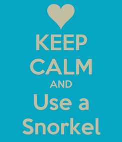 Poster: KEEP CALM AND Use a Snorkel