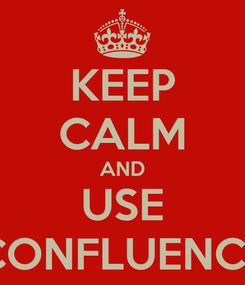Poster: KEEP CALM AND USE CONFLUENCE