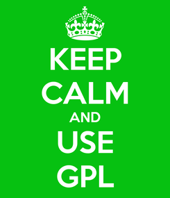 Poster: KEEP CALM AND USE GPL