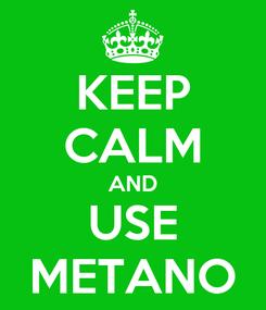 Poster: KEEP CALM AND USE METANO