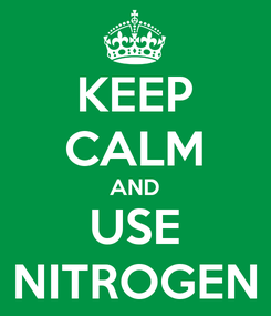 Poster: KEEP CALM AND USE NITROGEN