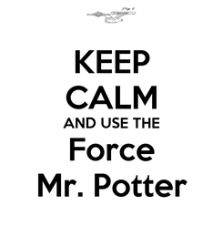 Poster: KEEP CALM AND USE THE Force Mr. Potter