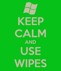 Poster: KEEP CALM AND USE WIPES